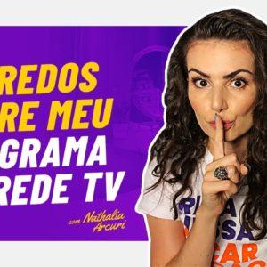 TODOS OS DETALHES SOBRE MEU NOVO PROGRAMA NA REDE TV #mepoupenaredetv