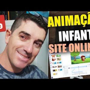 REVELADO! Site para fazer Animações Infantil Simples de usar Como criar animação infantil