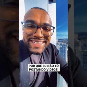 POR QUE EU NÃO ESTOU POSTANDO VÍDEOS | Tiago Fonseca #shorts